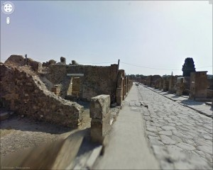 Pompeii in Google's StreetView