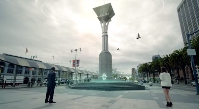 Shot uit de trailer van de Ingress game