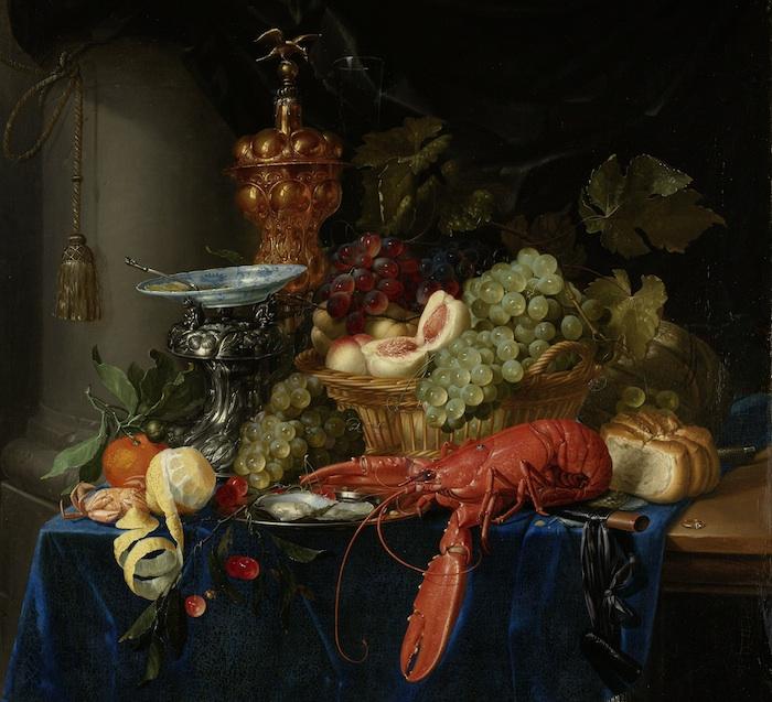 Stilleven met een gouden bokaal, Pieter de Ring, 1640 - 1660
